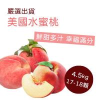 美國空運頂級水蜜桃 17/18 粒裝 4.5 KG