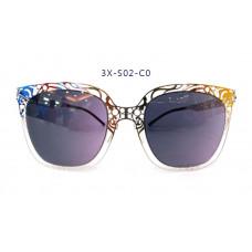 三叉結構鋼之本色墨鏡女款 52-23-145(銀色框),抗UV400鏡片