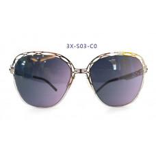 三叉結構鋼之本色墨鏡女款 57-20-145(銀色框),抗UV400鏡片