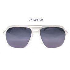 三叉結構鋼之本色墨鏡男款 58-19-145(銀色框),抗UV400鏡片