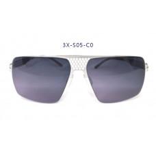 三叉結構鋼之本色墨鏡男款 60-16-145(銀色框),抗UV400鏡片