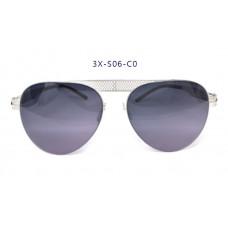 三叉結構鋼之本色墨鏡男款 57-17-145(銀色框),抗UV400鏡片