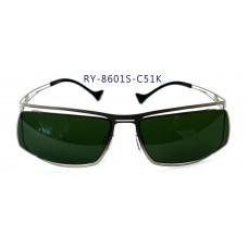無螺絲一體成型墨鏡男款(銀色框),抗UV400鏡片