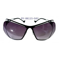 無螺絲一體成型墨鏡女款(黑色框),抗UV400鏡片
